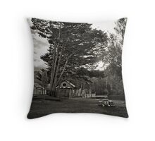 The Tree by the Lake Throw Pillow
