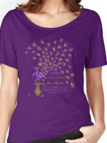 Paisley Peacock Pride and Prejudice: Royal Women's Relaxed Fit T-Shirt