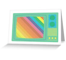vintage 80's TV design Greeting Card