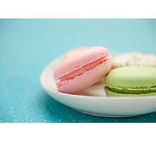 French Macaron Cookies Photographic Print