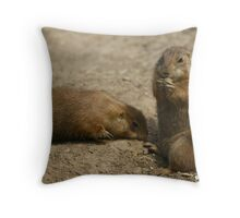 Cute Playful Groundhog Throw Pillow