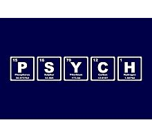 Psych - Periodic Table Photographic Print