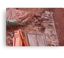 Restoration in brick Canvas Print