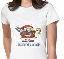 I Hear There's A Party Christmas T-shirt Womens Fitted T-Shirt
