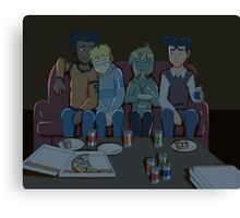 Heroes Movie Night Canvas Print
