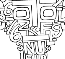 Man and numbers Sticker