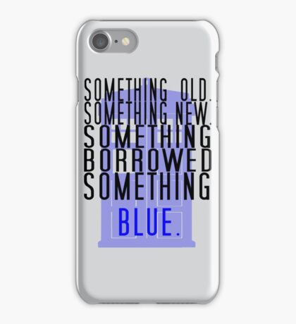 Doctor Who - TARDIS Rhyme  iPhone Case/Skin