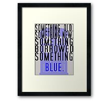 Doctor Who - TARDIS Rhyme  Framed Print