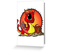 Baby Dragons Treasure Greeting Card