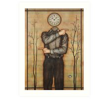 Chronological Man Art Print
