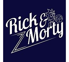 Rick and Morty (white lettering) Photographic Print