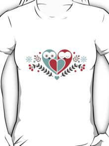 Two heart-shaped Owls T-Shirt
