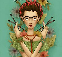 Frida Kahlo by pepitapasteles