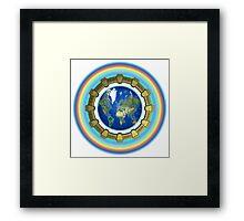 Earth Ascension Stargate Framed Print