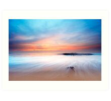 beautiful sunset on the beach Art Print