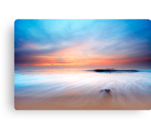 beautiful sunset on the beach Canvas Print