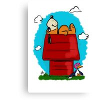 Duck Hunt\Snoopy Canvas Print
