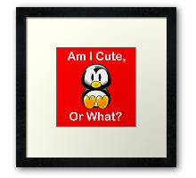 Am I Cute, Or What? Framed Print