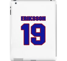 National Hockey player Roland Eriksson jersey 19 iPad Case/Skin
