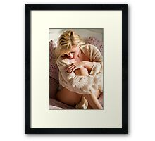 Knitted top Framed Print