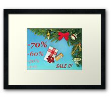 Holidays dicount Framed Print