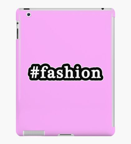 Fashion - Hashtag - Black & White iPad Case/Skin