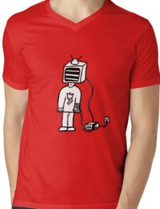 Wired In Retro Gamer Mens V-Neck T-Shirt