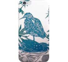 Sand Piper in Sea Holly iPhone Case/Skin