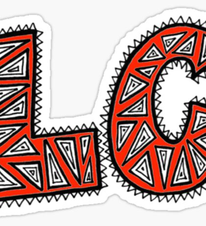 LC Patterned Initials Sticker