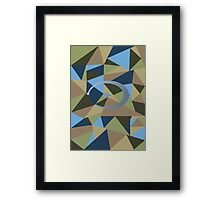 Halo polygon Framed Print