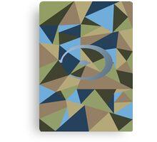 Halo polygon Canvas Print
