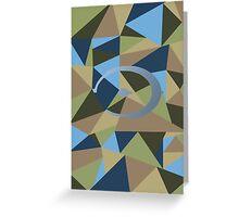 Halo polygon Greeting Card