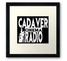 Cadaver Cinema Logo Framed Print