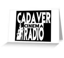 Cadaver Cinema Logo Greeting Card