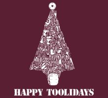 Amazing Hundreds of Tools Happy Toolidays Tool Tree T-Shirts and Gifts by Albany Retro