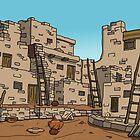 Hopi Village by AdrianaC