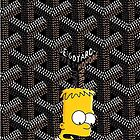 Yeezy Bart simpspon X Goyard Art Work by Caviplex