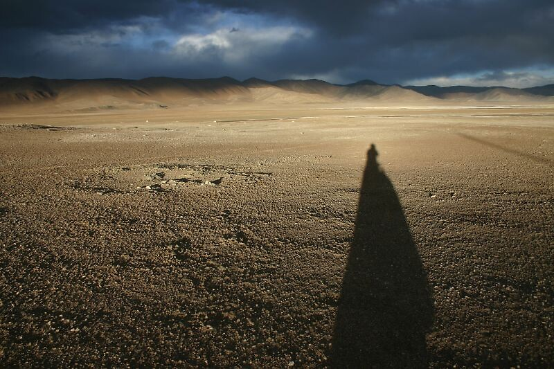 Sunset on the Aksay Chin, Tibetan Plateau, 4800m. by Nicolai Bangsgaard