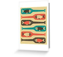 FISH IN A BOTTLE Greeting Card