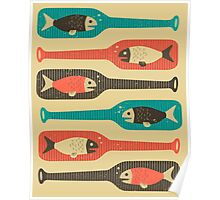 FISH IN A BOTTLE Poster