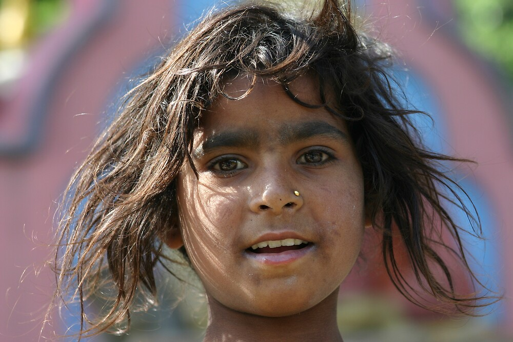 Outcast girl in Kathmandu, Nepal by Nicolai Bangsgaard
