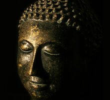 Buddha Bronze Sculpture - Tryptic Right by gematrium