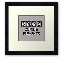 Brains Zombie Elements Framed Print