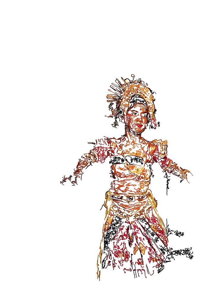 Indonesian Dancer by gematrium