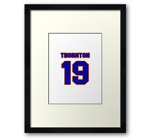 National Hockey player Joe Thornton jersey 19 Framed Print