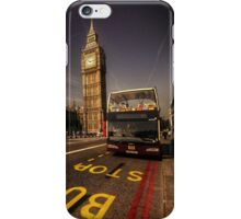 Westminster Bus Stop  iPhone Case/Skin
