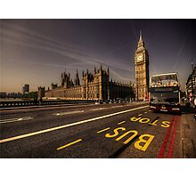 Westminster Bus Stop  Photographic Print