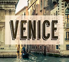 Retro Venice Grand Canal Poster by mrdoomits