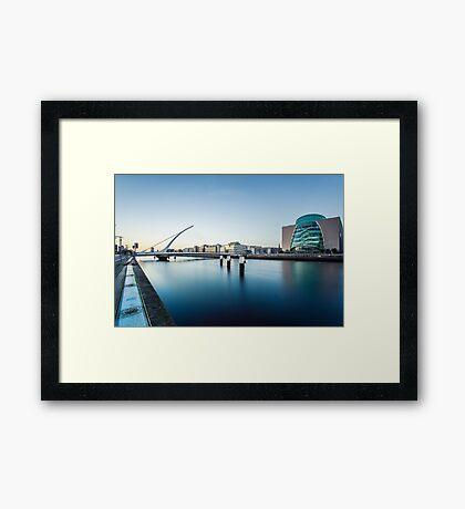 Samuel Beckett Bridge, Dublin, Ireland Framed Print