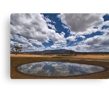 Dam Reflections Canvas Print
